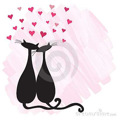 Free Cats In Love Royalty Free Stock Image - 12420106