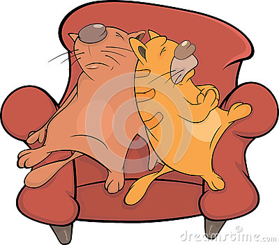 Cats on a sofa