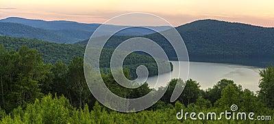 Catskills Soft Reservoir Sunset