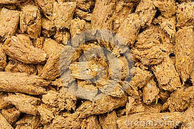 Cattle feed close-up
