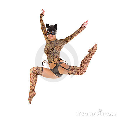 Catwoman jumping