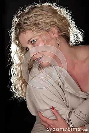 Caucasian blonde woman lifestyle