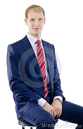 Caucasian business man sitting