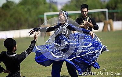Caucasian dance team Editorial Image