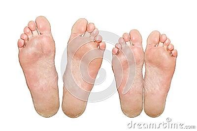 Caucasian feet