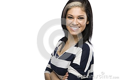 Caucasian Girl with Arms Crossed