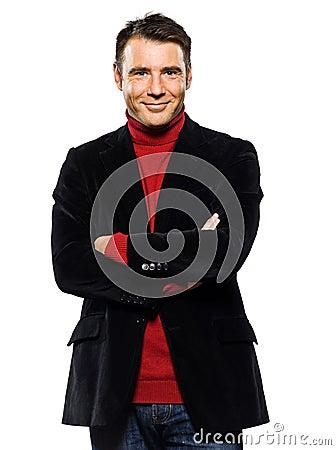 Caucasian handsome man portrait smiling cheerful