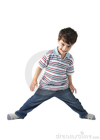 Free Caucasian Kid Looking To You With Happy Smile Stock Images - 21427224