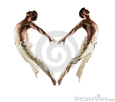Caucasian male dancer