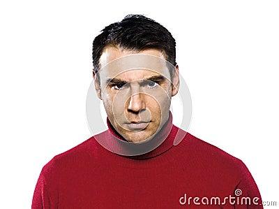 Caucasian man anger