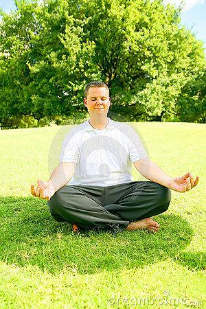 Caucasian Man Doing Meditate
