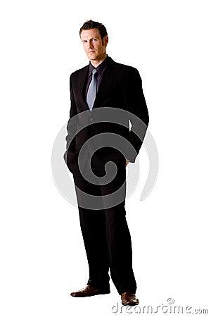 Caucasian man in suit and tie