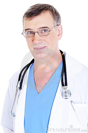 Caucasian mature male doctor