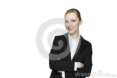 Caucasian woman arms crossed