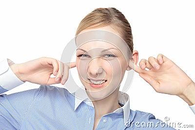 Caucasian woman ears