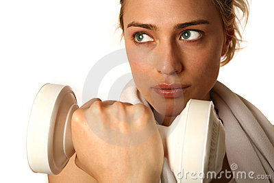 Caucasian Woman Working Out