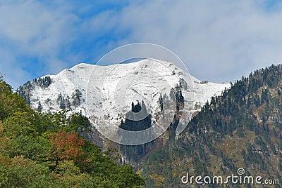 Caucasus. Abkhazia (Abhazia). Autumn mountain view