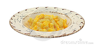 Cauliflower with cheese sauce in bowl
