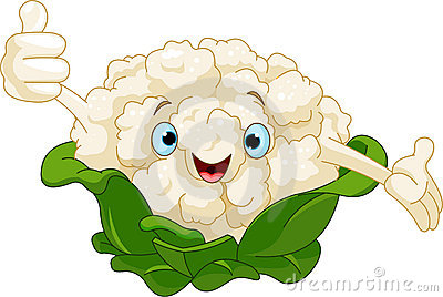 Cauliflower Presenting Something