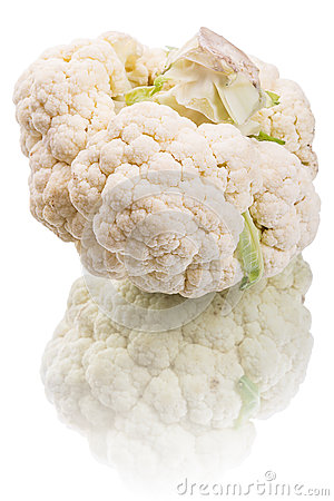 Cauliflower on white
