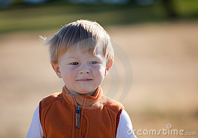 Causal portrait of an adorable toddler boy