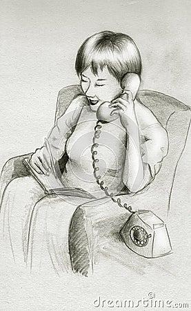 Causerie de téléphone