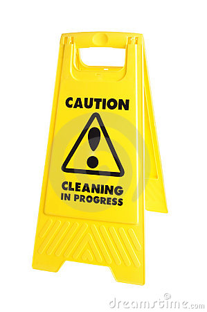 Caution cleaning sign