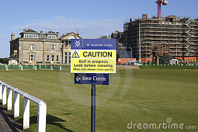 Caution golf in  progress