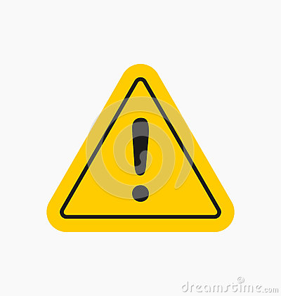 Caution icon / sign in flat style isolated. Warning symbol Vector Illustration