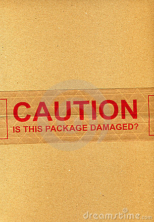 CAUTION is this package damaged?