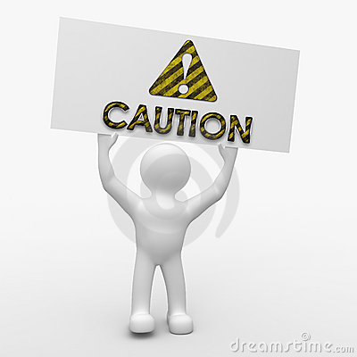 Free Caution Sign! Stock Images - 13286304