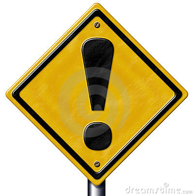 Free Caution Sign Royalty Free Stock Photo - 2306155
