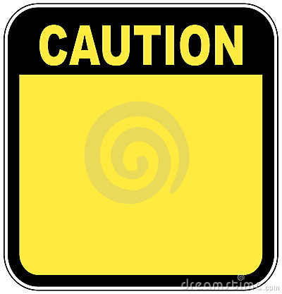 Free Caution Sign Royalty Free Stock Photos - 5805208