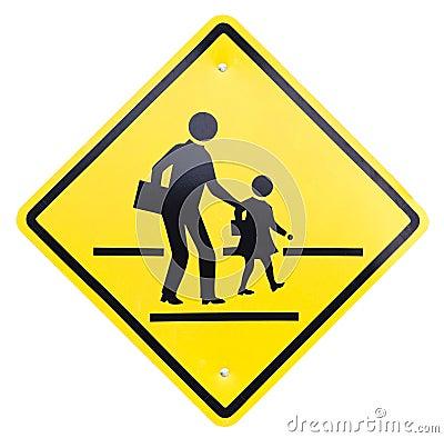caution sign - school crossing