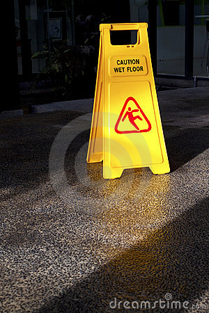 Free Caution Wet Floor Royalty Free Stock Photo - 19070175