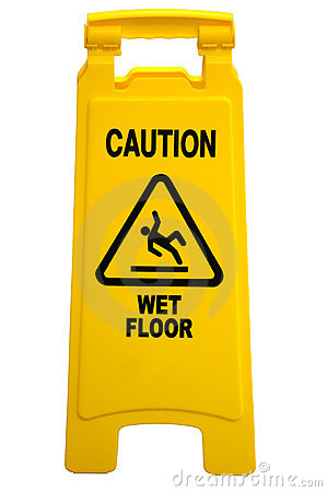 Free Caution Wet Floor Sign Stock Photos - 6748013