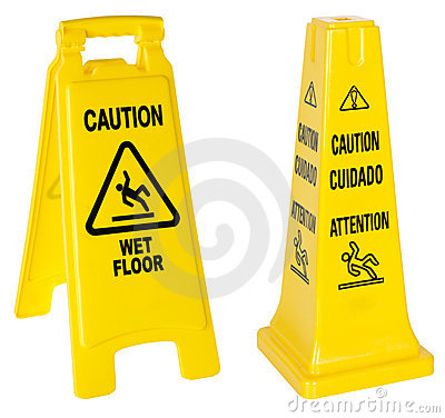 Caution: Wet Floor signs