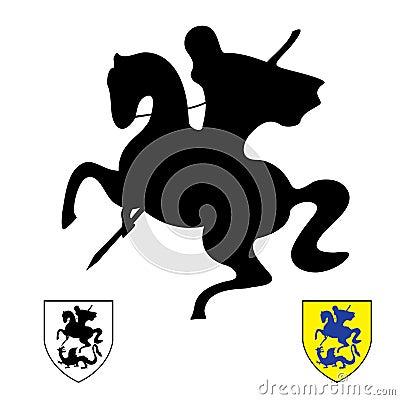 Cavaliere su un cavallo. San George