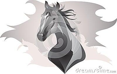 Cavallo stilizzato immagini stock libere da diritti for Disegno cavallo stilizzato
