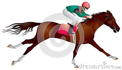 Cavalo e cavaleiro do esporte equestre dentro