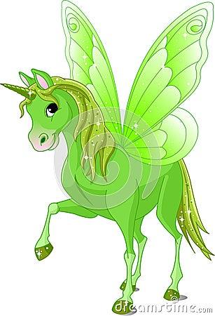 Cavalo feericamente da cauda