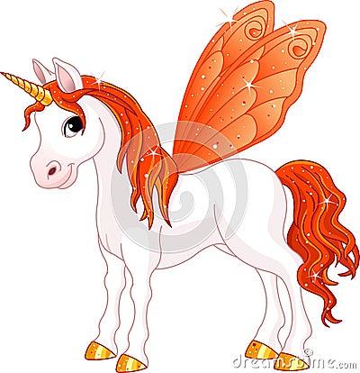 Cavalo feericamente da laranja da cauda