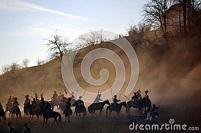 Cavalry battle Editorial Photo