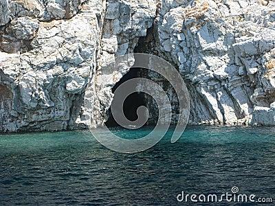 Cave in aegean sea turkey
