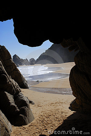 Cave and beach