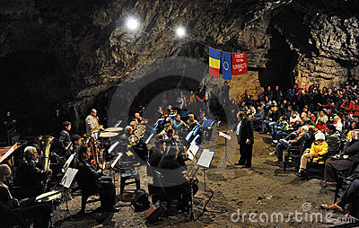 Cave concert Editorial Photography