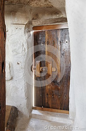 Cave doorway capodocia ajar