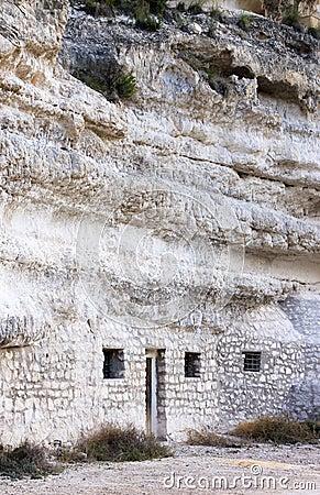 Cave house in Jorquera, Castilla-la-Mancha, Spain
