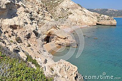 Cave on seashore