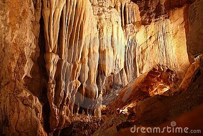Cave stalactites underground cavern magic light